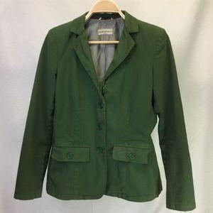 Emporio Armani Green Cotton 3 button Blazer -8